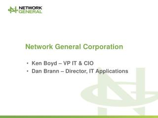 Network General Corporation