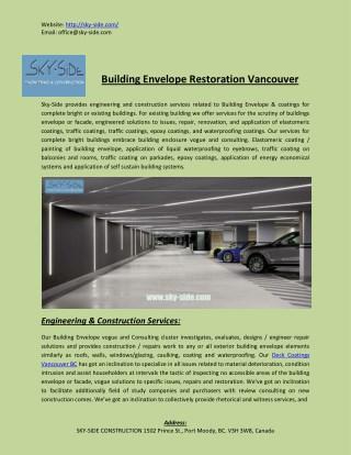 Building Envelope Restoration Vancouver