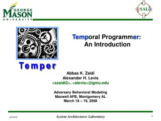 Temporal Programmer:  An Introduction