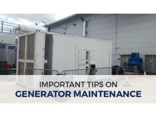 Important Tips on Generator Maintenance