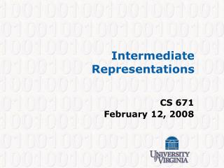 Intermediate Representations