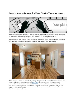 Impress Your Mother-In-Law with a Floor Plan for Your New Apartment – Floor Plan