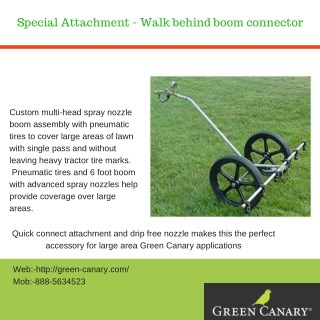 Special Attachment - Walk behind boom connector