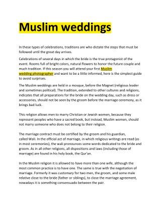 muslim weddings