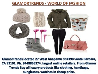 Glamor Trends 27 West Anapamu St #398 Santa Barbara, CA 93101, Ph. 8448865374