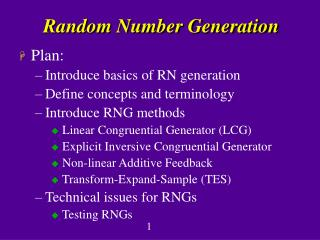 Random Number Generation