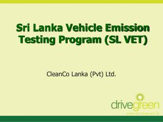 Sri Lanka Vehicle Emission Testing Program SL VET