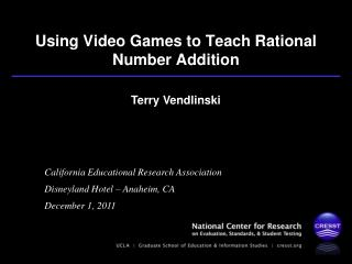 Using Video Games to Teach Rational Number Addition