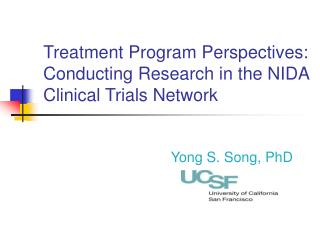 Treatment Program Perspectives:  Conducting Research in the NIDA Clinical Trials Network
