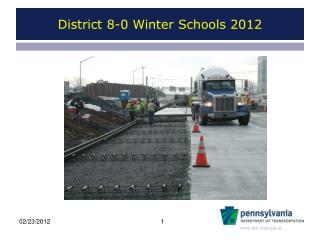 District 8-0 Winter Schools 2012