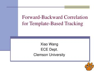 Forward-Backward Correlation  for Template-Based Tracking