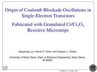 Origin of Coulomb Blockade Oscillations in Single-Electron Transistors  Fabricated with Granulated Cr