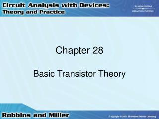 Basic Transistor Theory