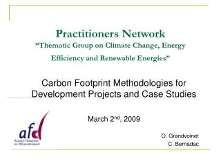 Practitioners Network   Thematic Group on Climate Change, Energy Efficiency and Renewable Energies