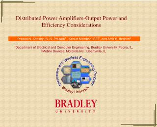 Distributed Power Amplifiers-Output Power and  Efficiency Considerations