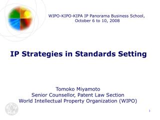 WIPO-KIPO-KIPA IP Panorama Business School,  October 6 to 10, 2008