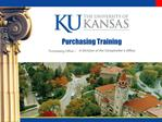 Purchasing Training
