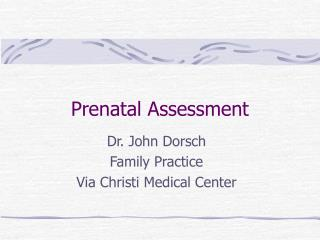 Prenatal Assessment