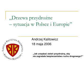 Drzewa przydrozne    sytuacja w Polsce i Europie