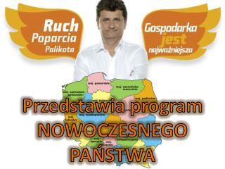 Przedstawia program NOWOCZESNEGO PANSTWA