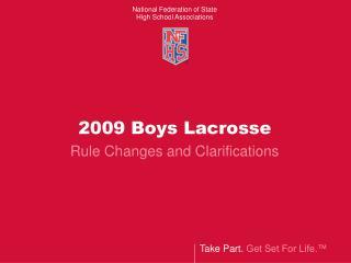 2009 Boys Lacrosse