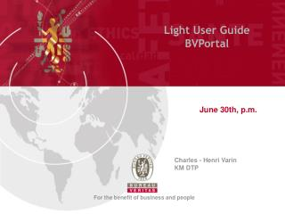 Light User Guide BVPortal
