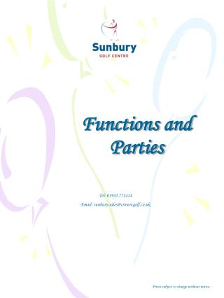 Functions and Parties