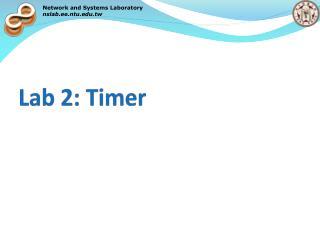 Lab 2: Timer