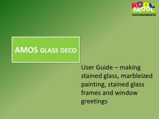 Buy  AMOS glass deco from KOOLSKOOL