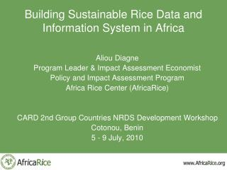 Building Sustainable Rice Data and Information System in Africa