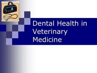 Dental Health in Veterinary Medicine