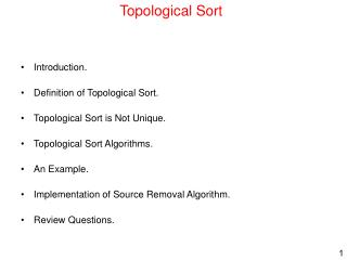 Topological Sort
