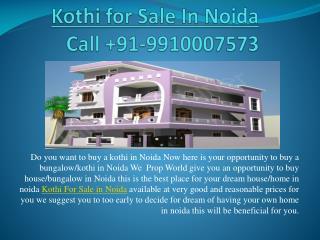 Kothi For Sale In Noida