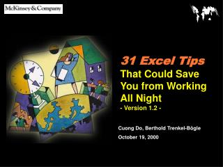 31 Excel Tips  That Could Save You from Working All Night - Version 1.2 -