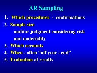 AR Sampling