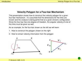Velocity Polygon for a Four-bar