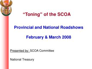 Toning  of the SCOA