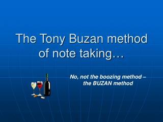 The Tony Buzan method of note taking