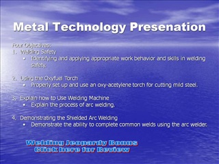 Metal Technology Presenation