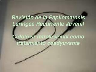 Revisi n de la Papilomatosis Laringea Recurrente Juvenil   Cidofovir intralesional como tratamiento coadyuvante