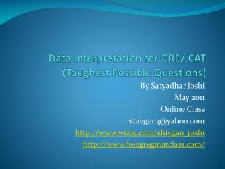 Data Interpretation for GRE