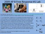 2009 AP B Free Response 1 Lab
