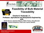 Feasibility of Bulk Material Traceability