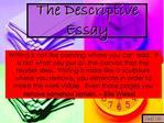 The Descriptive Essay