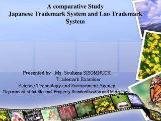A comparative Study  Japanese Trademark System and Lao Trademark System