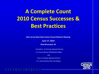A Complete Count 2010 Census Successes  Best Practices