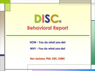 DISC    Behavioral Report