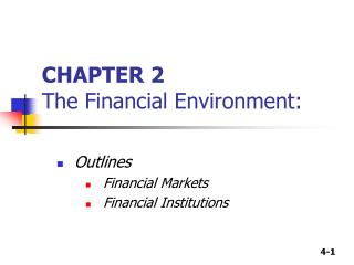 CHAPTER 2 The Financial Environment: