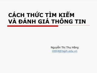 C CH THC T M KIM V    NH GI  TH NG TIN
