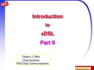 Introduction to xDSL  Part II